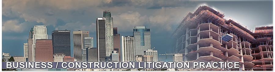 Business, Construction Litigation Services